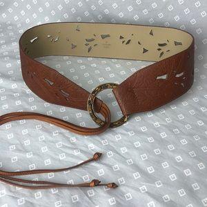 Coldwater Creek Leather Tassel Belt